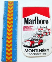MARLBORO Montlhery 17 Oct 1982 (French Production Championship)   sticker  unused